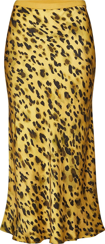 ANINE BING Bar Printed Silk Midi Skirt