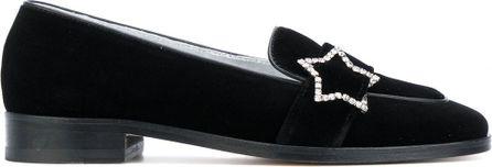 Alexa Chung velvet star loafers