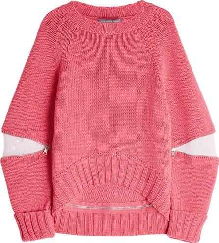 Alexander McQueen Oversized Wool Pullover with Zippers