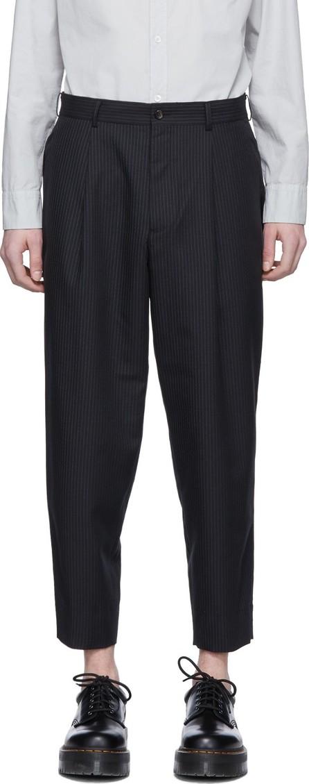 Comme des Garçons Homme Deux Black Thin Stripe Trousers