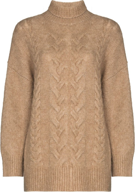 LVIR Roll-neck cable-knit jumper