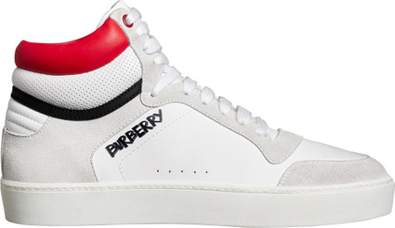 Burberry London England Leather and Suede High-top Sneakers