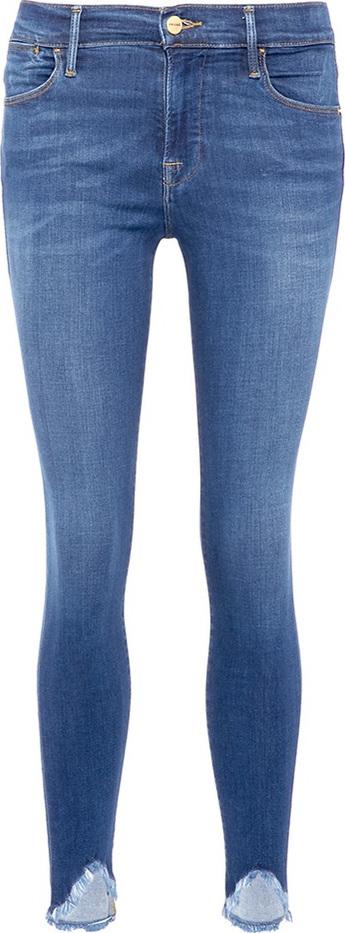 FRAME DENIM 'Le High Skinny' frayed cuff jeans