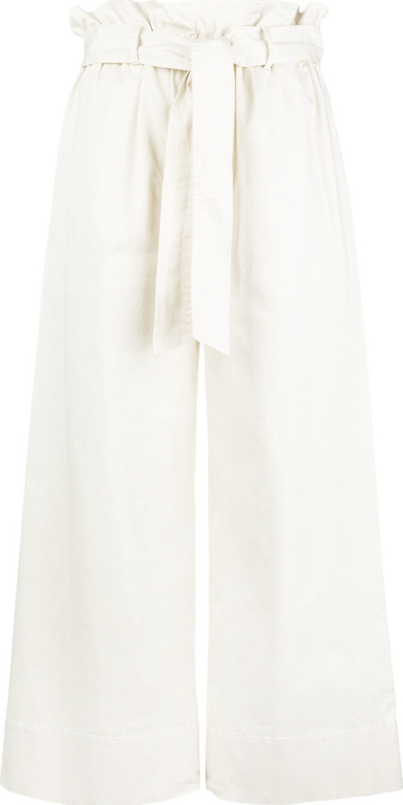 FRAME DENIM Waist-tied cropped trousers