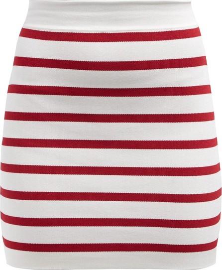 Balmain Striped knitted mini skirt