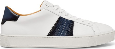 Santoni Two-Tone Leather Sneakers