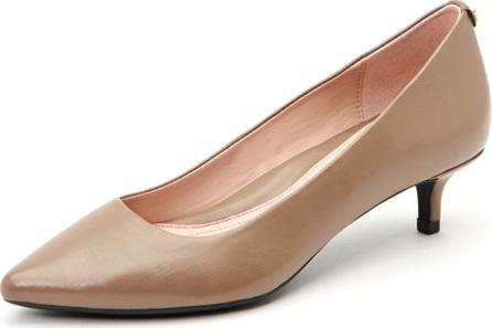 Taryn Rose Naomi Leather Kitten-Heel Pumps