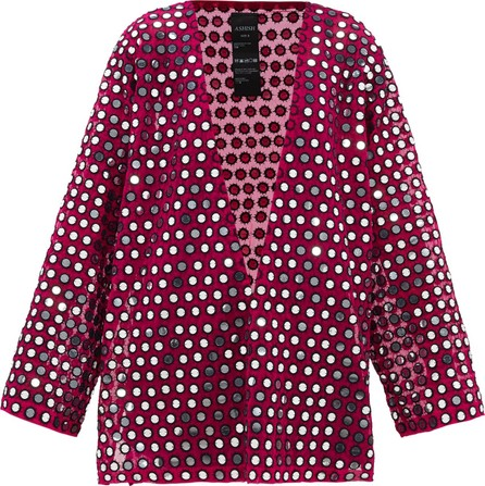 ASHISH Rajasthan mirror-applique slit-side dress