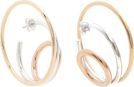 Charlotte Chesnais Ricoche gold-vermeil and sterling-silver earrings