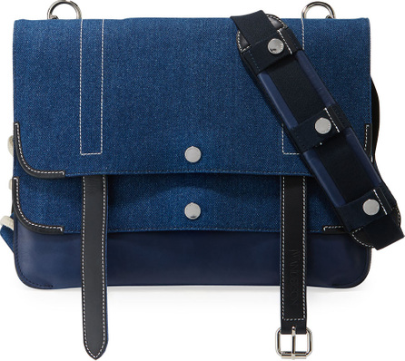 J.W.Anderson Disc Layered Denim Satchel Bag