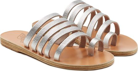 Ancient Greek Sandals Niki Metallic Leather Sandals