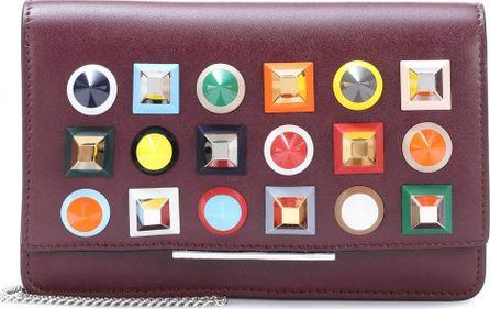 Fendi Wallet on Chain embellished leather shoulder bag