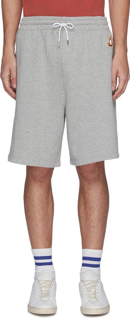 Maison Kitsune Lotus fox patch drawstring waist jogging shorts