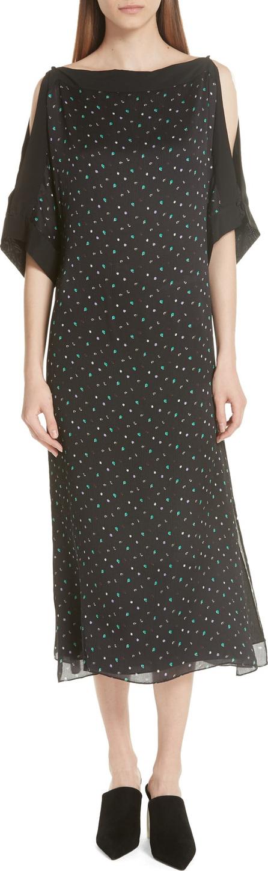 GREY Jason Wu Cold Shoulder Silk Dress