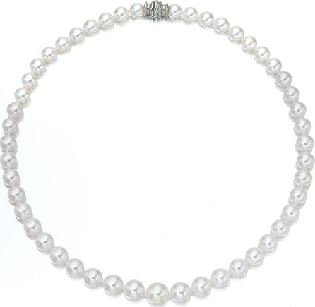 """Assael Short Akoya 6.5mm Pearl-Strand Necklace w/ 18k White Gold, 16""""L"""
