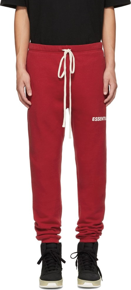 Essentials Red Logo Lounge Pants