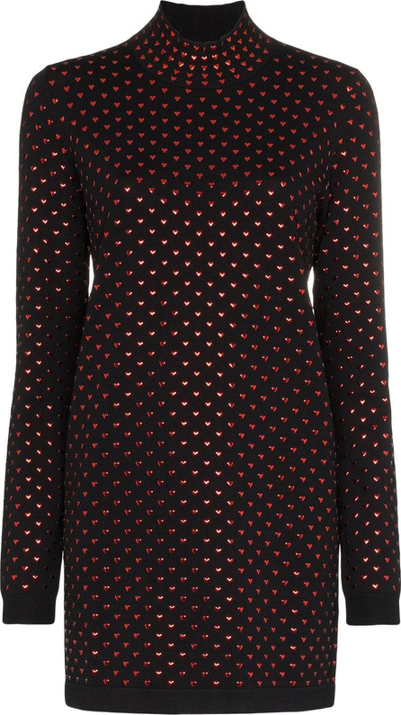 Adam Selman Turtle neck heart embellished mini dress