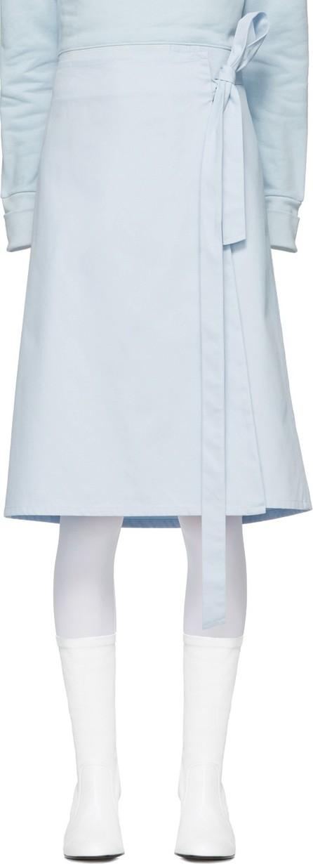 A_Plan_Application Blue Wrap Skirt