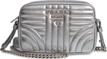 Prada Small Quilted Calfskin Leather Camera Bag