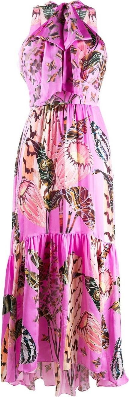 Temperley London Silk halterneck dress