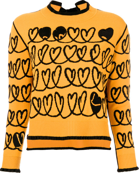 Fendi Heart embroidered sweater with cut out details