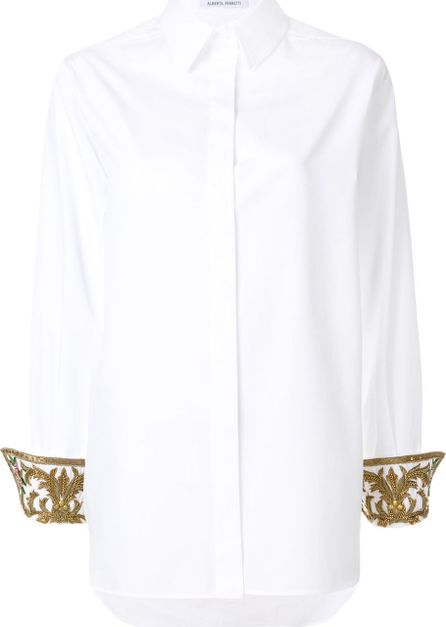 Alberta Ferretti embellished cuffs shirt