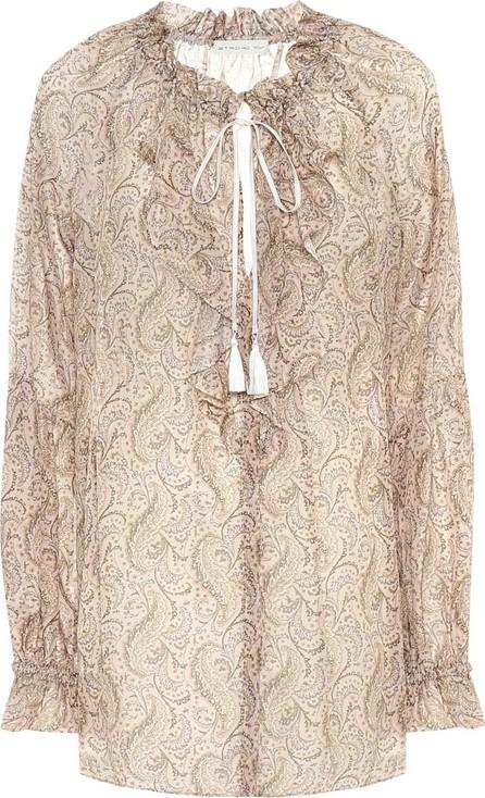 Etro Paisley cotton and silk blouse