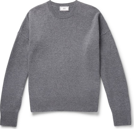 AMI Oversized Mélange Merino Wool and Cashmere-Blend Sweater