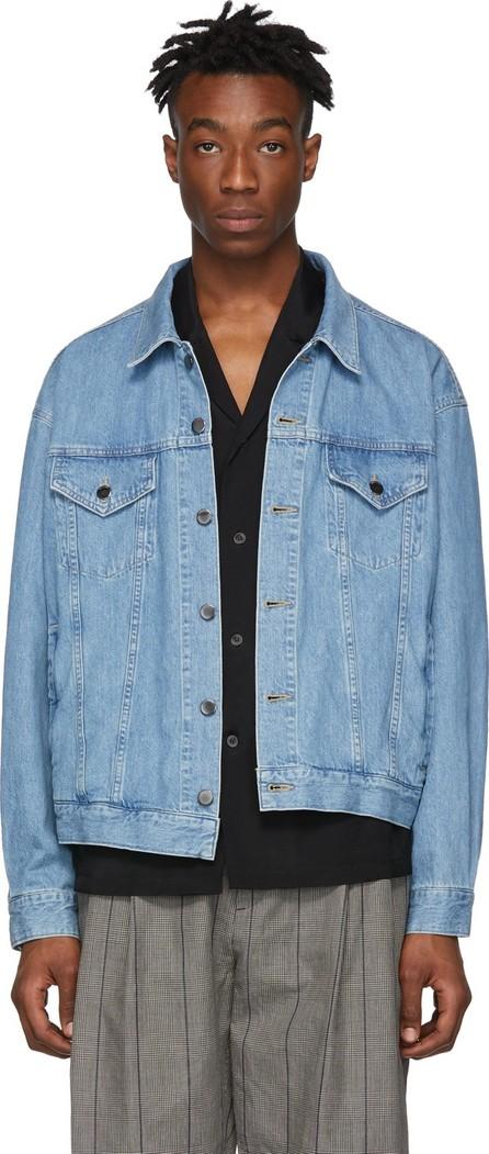 Diet Butcher Slim Skin Blue Denim Asymmetry Jacket