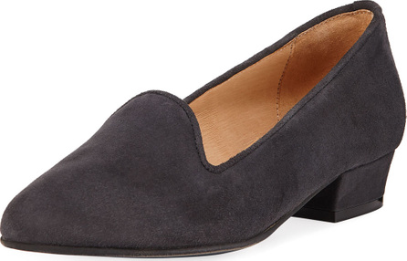 Sesto Meucci Ariele Comfortable Suede Chunky-Heel Loafer Pump