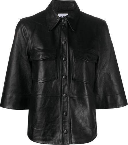 Ganni Three-quarter length sleeves buttoned shirt
