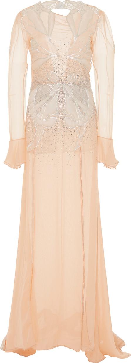 Francesco Scognamiglio Embellished Long Sleeve Gown
