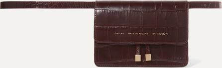 Chylak Croc-effect leather belt bag