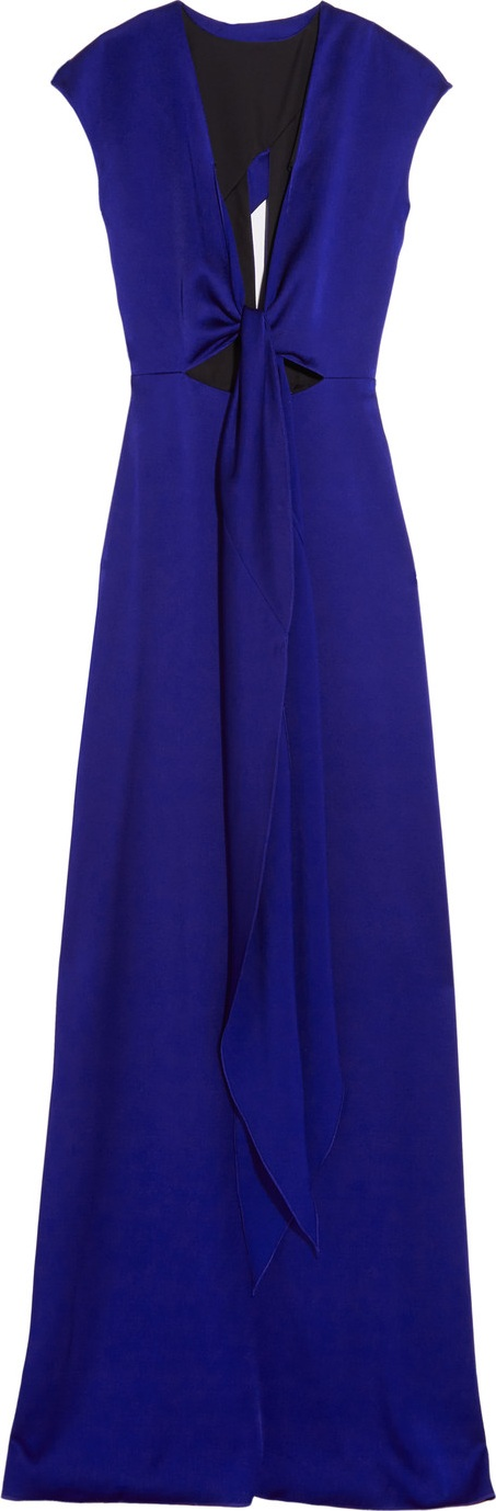 Victoria Beckham - Cutout brushed-satin gown