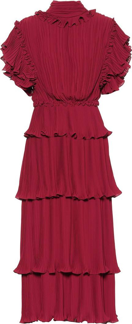 Johanna Ortiz Chants pleated silk dress