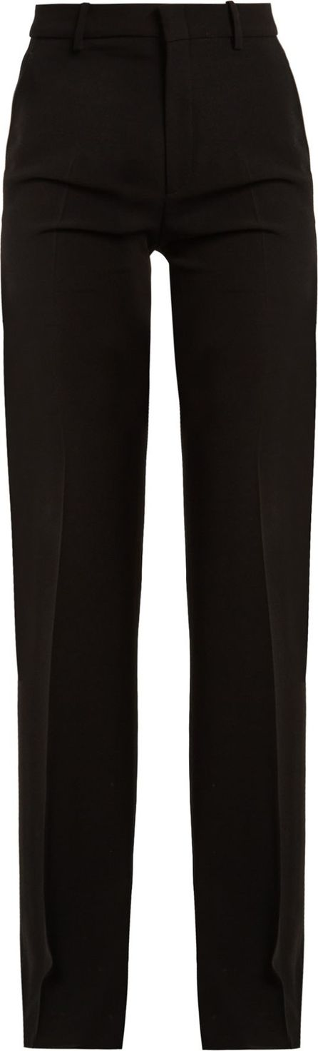 Gucci High-rise flared stretch-crepe cady trousers