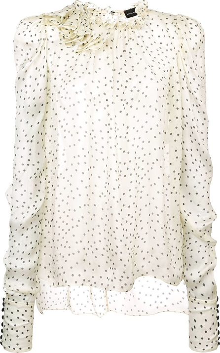 Magda Butrym Ruffle polka-dot blouse