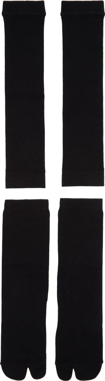 Goodfight Black Two-Piece Tabi Socks