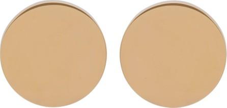 Jil Sander Circle gold-tone stud earrings