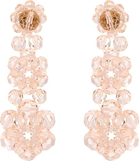 Simone Rocha Floral-bead drop earrings