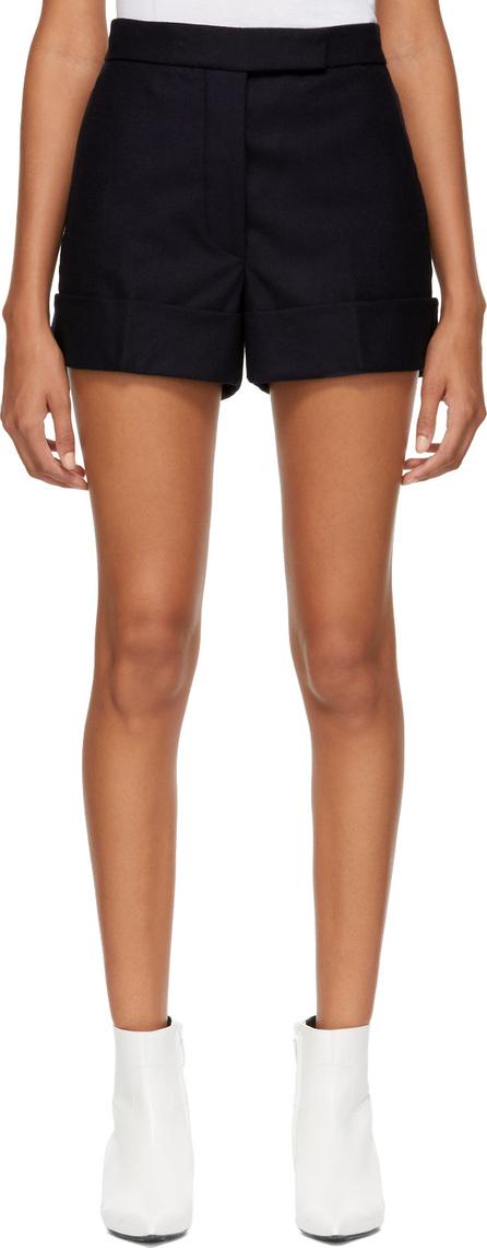 Thom Browne Navy Wool Backstrap Mini Shorts