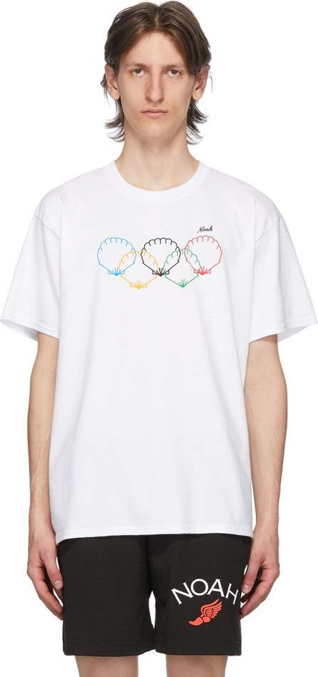 Noah NYC White Scallops T-Shirt