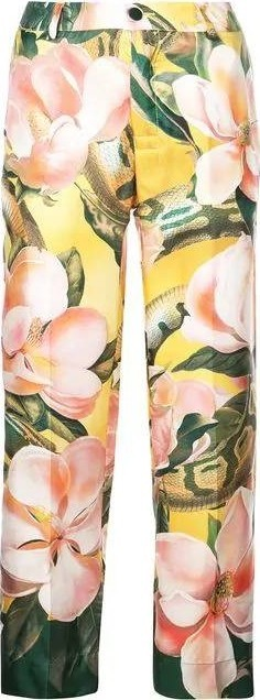 For Restless Sleepers floral print silk trousers