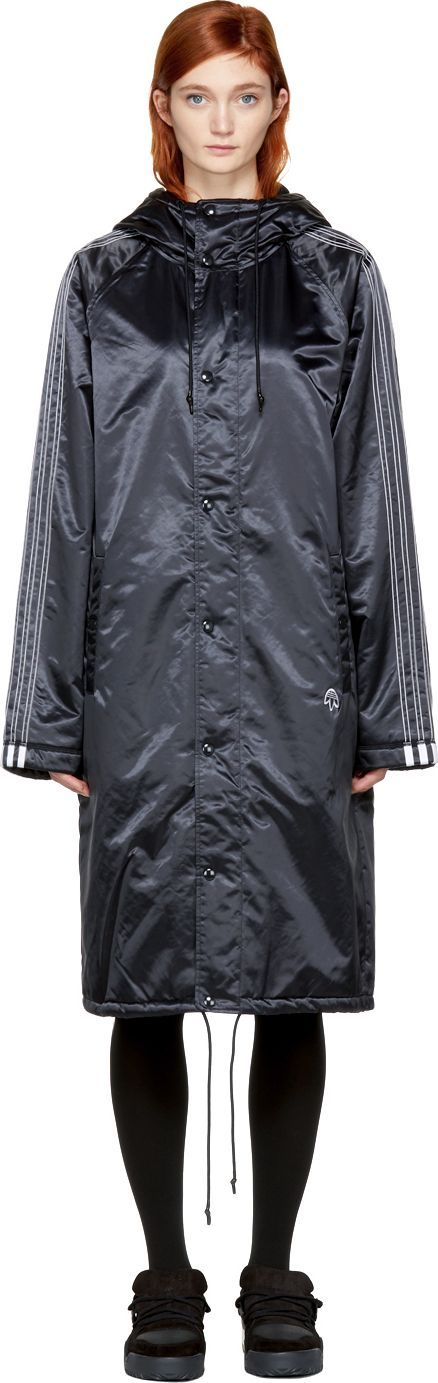 Adidas Originals by Alexander Wang Black Nylon Stadium Coat