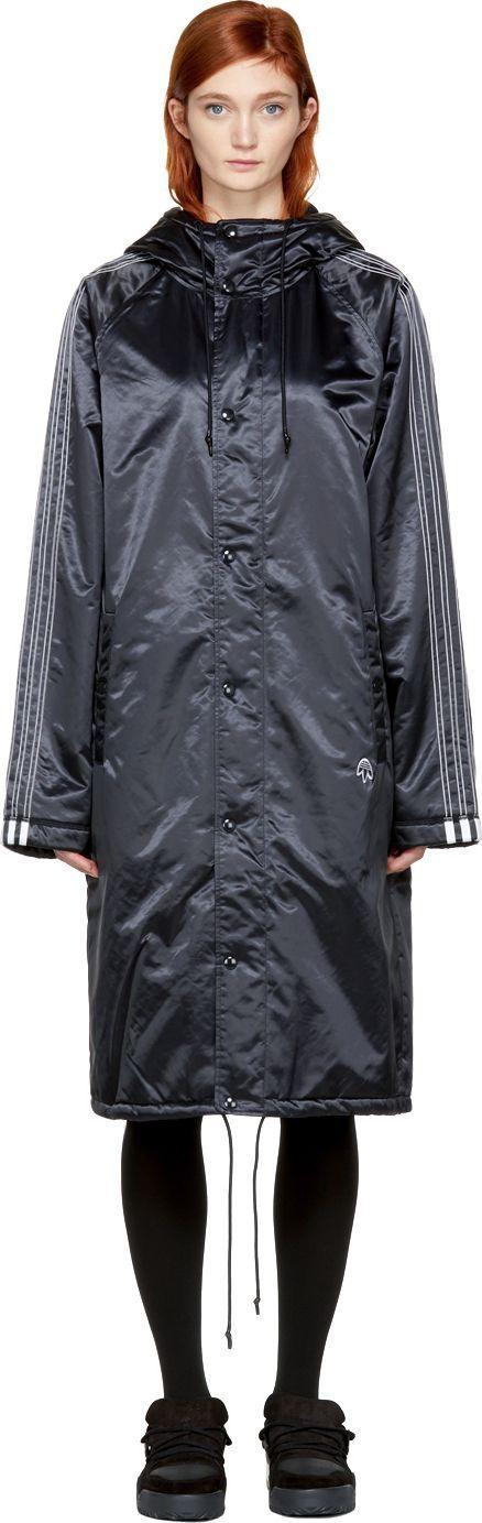 Adidas Originals by Alexander Wang Black Nylon Stadium Coat