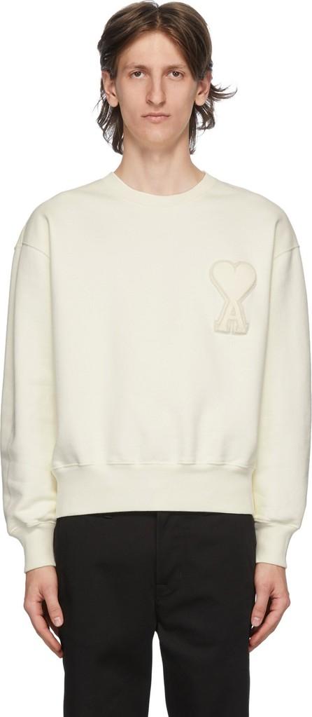 AMI SSENSE Exclusive Off-White Ami De Coeur Sweatshirt