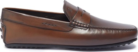 Tod's 'City Gommino' penny leather driving shoes