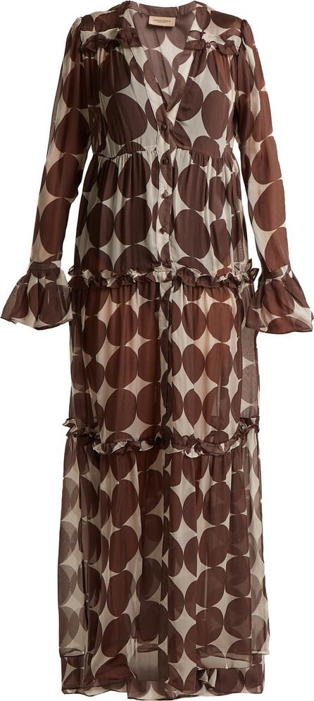 Adriana Degreas Cacao polka-dot print dress