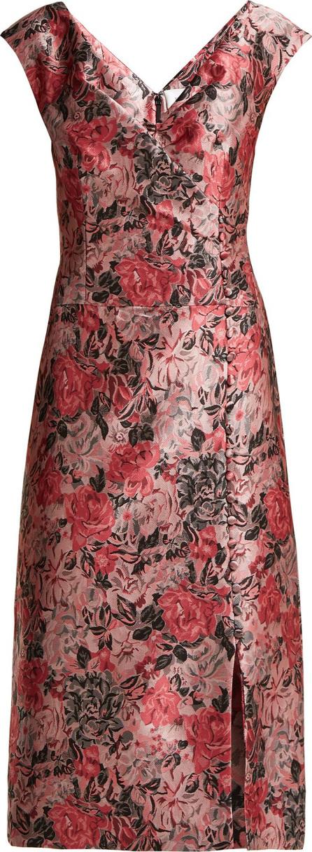 Erdem Joyti floral jacquard dress