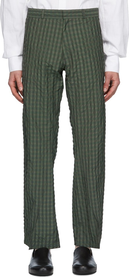 Bianca Saunders Green Jeff Split Cuff Trousers